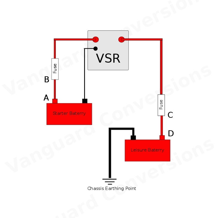 split charge relay kit 12v durite 140amp kit vanguard campervan parts rh vanguard conversions co uk 5 Pole Relay Wiring Diagram connecting a split charge relay