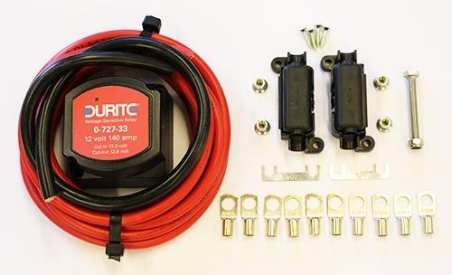 Split Charge Relay Kit 12v Durite 140amp Kit Vanguard Campervan Parts