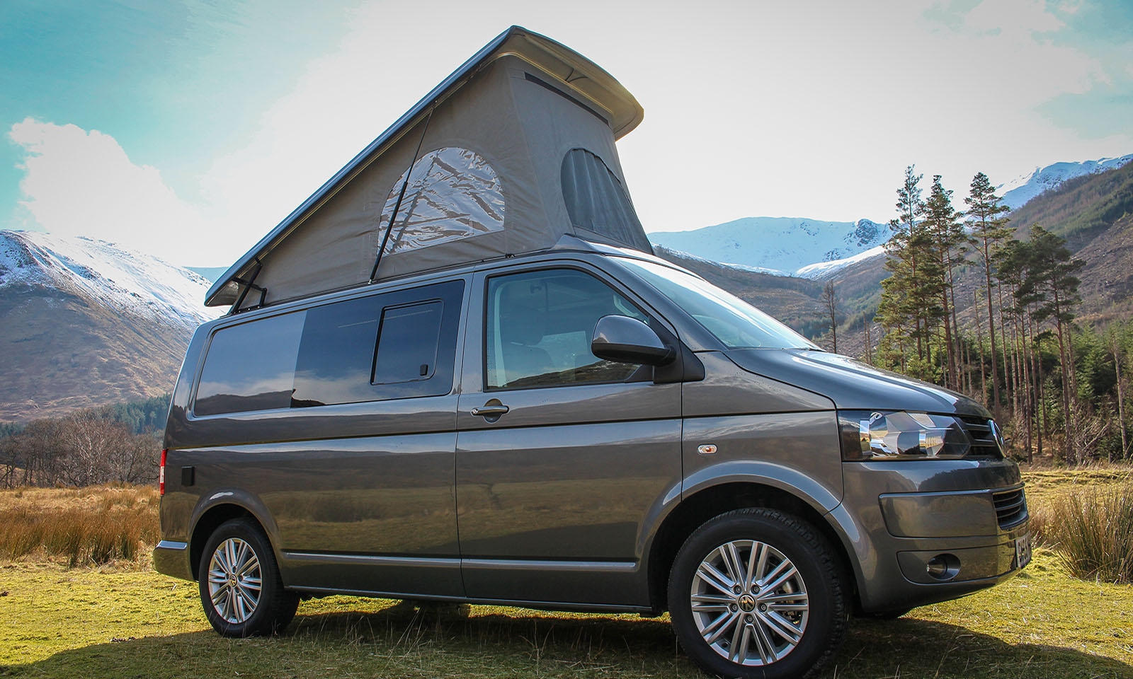 VW T5 Highline Campervan Conversion with SCA 190 Comfort front elevating pop top roof