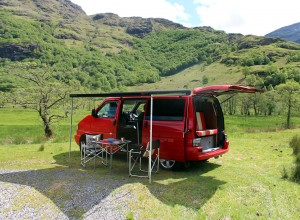 VW T4 Campervan with Fiamma F45s Awning
