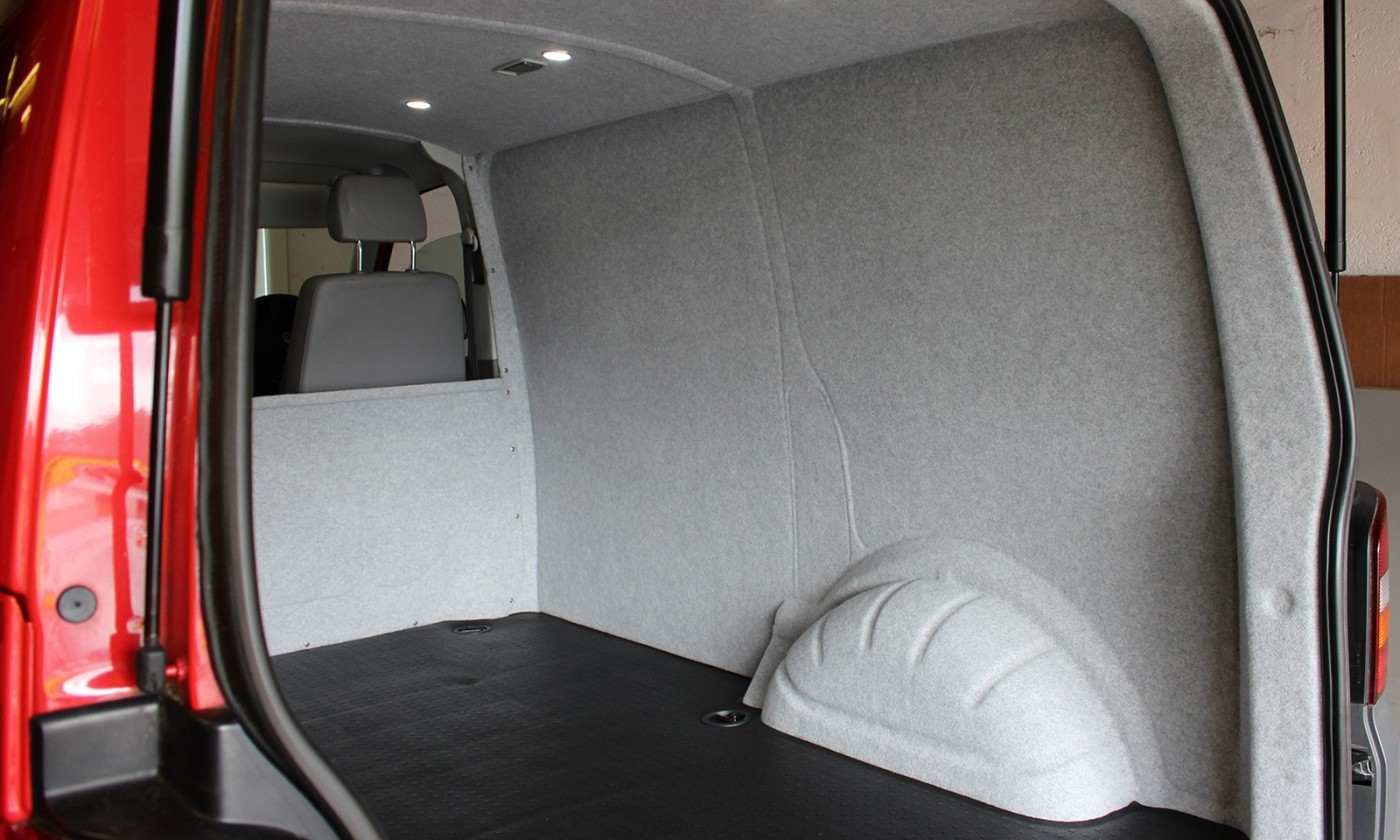 VW T5 Campervan Conversion and carpet lined in Silver