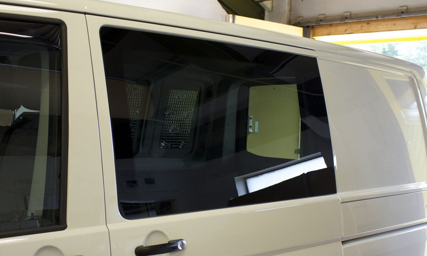SWB VW T5 Bonded fixed privacy windows