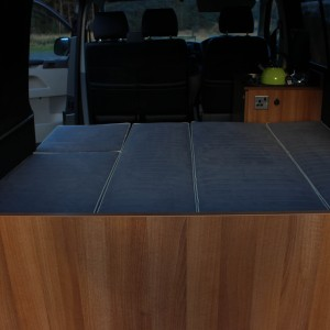 vw camper van bed and upholstery