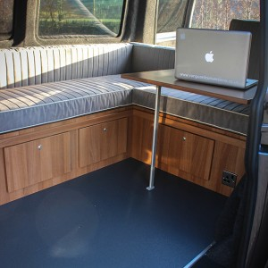 VW T5 Seating with Campervan table