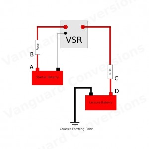 Durite 12v Intelligent Split Relay wiring diagram