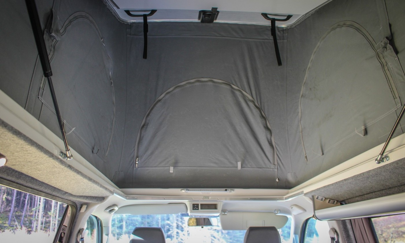 VW T5 Campervan Conversion fitted with SCA Pop top roof front elevating