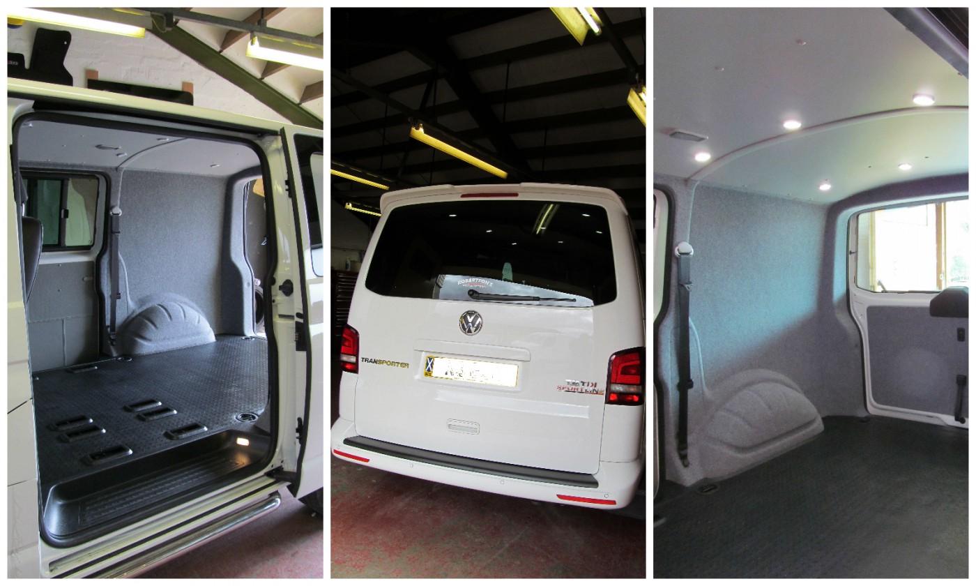 VW T5 Carpet Lining Veltrim easy liner Silver