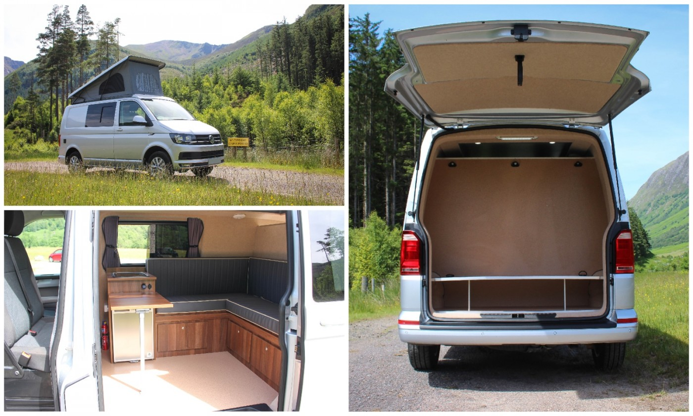VW T6 Comfortline with rear Bike Garage